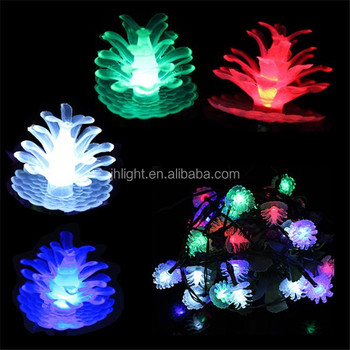 2m 20led Warm White Pine Cone Shape String Lights Festival ...