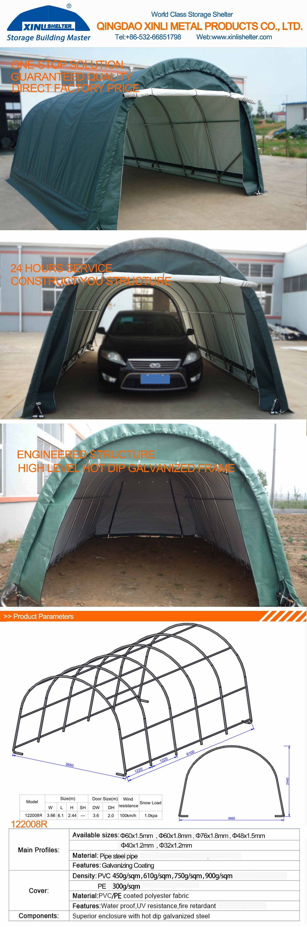 Mobile Home Car Parking Shed