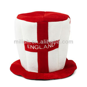 crazy custom football teams fan hat red white England flag style top hat MHH35