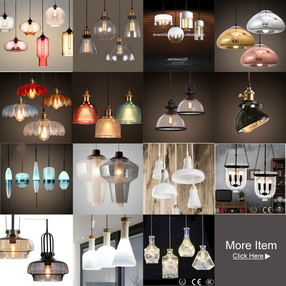 Graceful Vol 6 Lights Metal Crystal Platinized Silver Leaf Glass Bulb Pendant Lamp