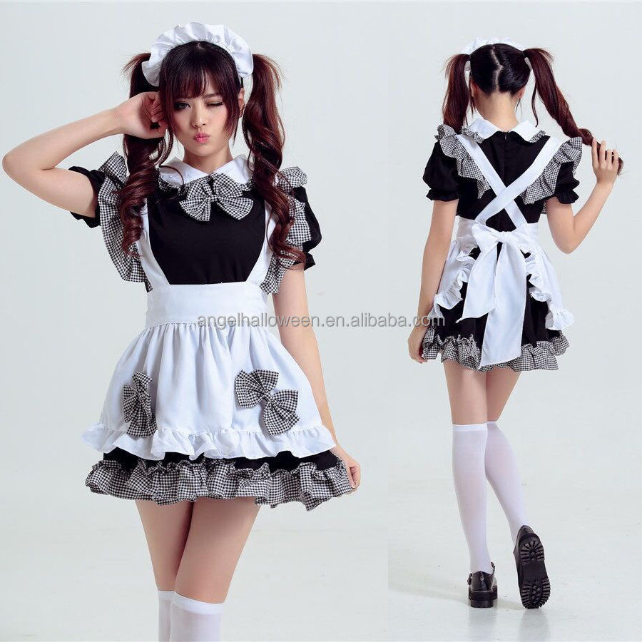d6c31f6c5bd0f Nette Cosplay Japan Sexy Mädchen Anime Bier Lolita Maid Outfit ...