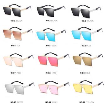 4fef2989db3 ... 2018 New Cheap Color Sunglasses Women Men Unique Oversize Shield  Gradient Brand Designer Eyeglasses Frames official ...