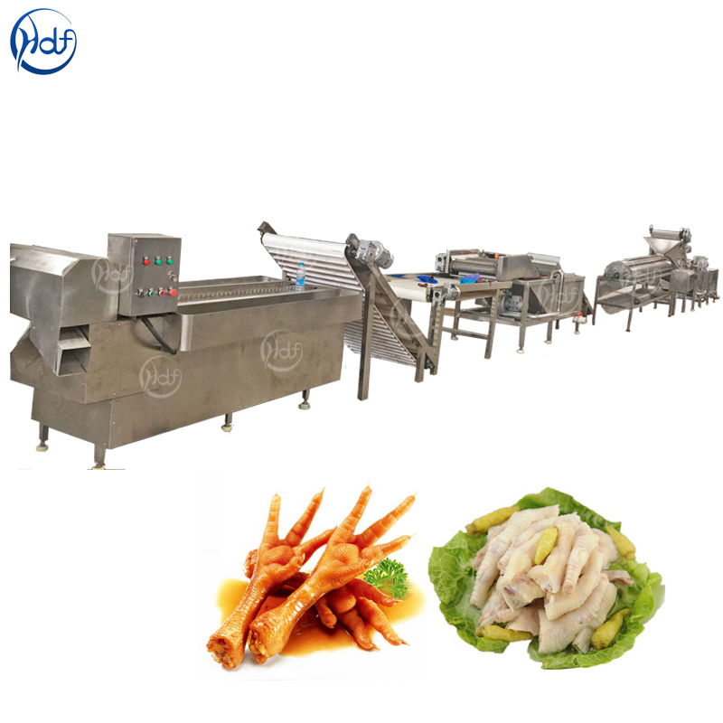 <strong>Chicken</strong> feet peeling sorting line <strong>chicken</strong> claw <strong>processing</strong> equipment