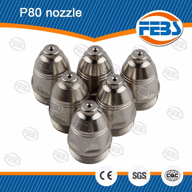 P80 plasma cutting torch nozzle tip used for LGK - 100 cutting machine