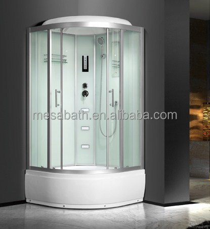 2017 New portable toilet sauna shower cabin with glass sliding doors and computer panel