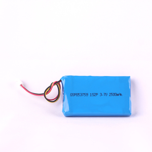 3.7V 2500mAh 053759 rechargeable li polymer battery pack