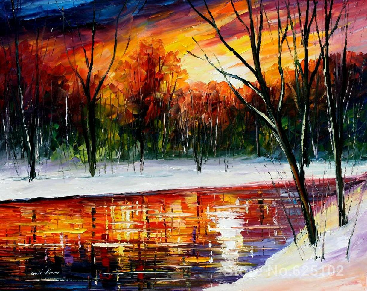 winter spirit,palette knife painting For sale,Home Decor,Hand-painted,High quality