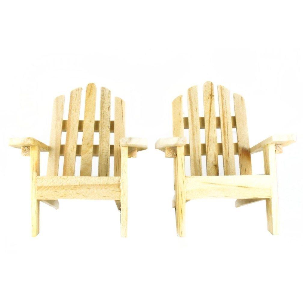 Get Quotations · Mini Decorative Adirondack Style Plain Wood Chairs (Set Of  2)