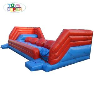 inflatable big baller obstacle jumping bounce wipe out game