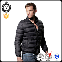2016 COUTUDI New Black Fashion Sports Winter Windbreaker Super Light Foldable Men Down Jacket Without Hood
