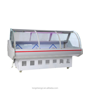 Supermarket used display meat freezer/meat display refrigerator for sale