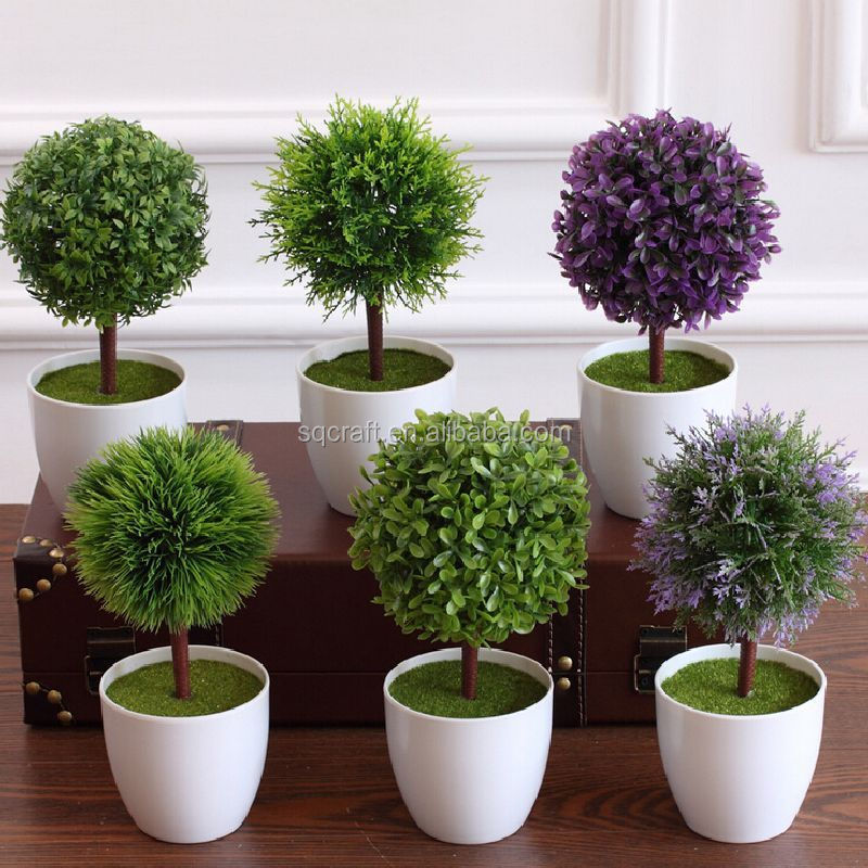 Decorative Artificial Encryption Conifers Grass Ball Saplings ...