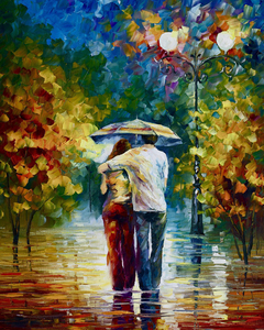 Myriart abstract clothes art poster decor canvas prints giant posters framed canvas paintings sweet couple under umbrella
