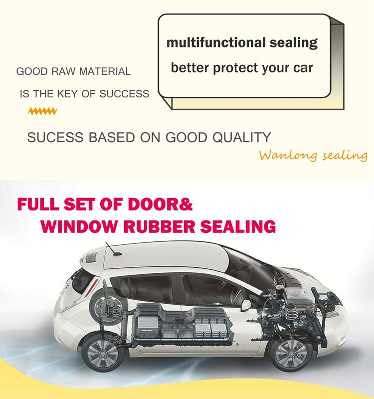 Factory customized auto window rubber extrusions