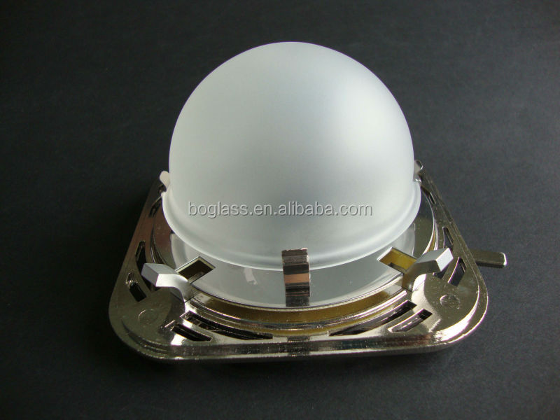 sandblasted pyrex glass dome cover for flash light glass light cover glass lamp cover