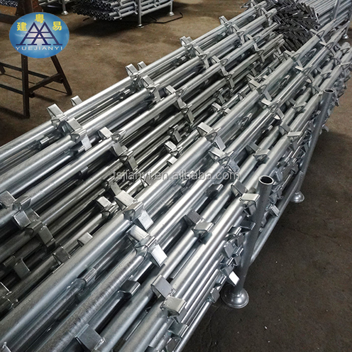 Hot dip Galvanized rustless silver scaffolding kwikstage for bridge