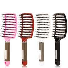 Y80 Cheveux Peigne Cuir Chevelu Massage Peigne <span class=keywords><strong>Brosse</strong></span> À Cheveux À Poils En Nylon <span class=keywords><strong>Femmes</strong></span> Bouclés <span class=keywords><strong>Brosse</strong></span> À Cheveux pour la Coiffure Styling Outil