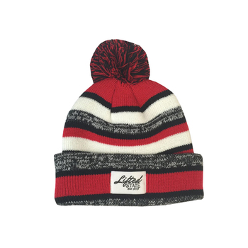 wholesale cheap custom made 100 acrylic pom knitted beanie with woven label 180feb2d1a0