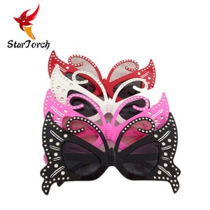 Fashion colorful butterfly shape party glasses party supplies