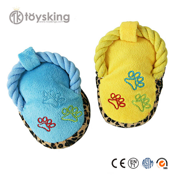 Cotton Rope Shoes Shape Pet Plush Toys Squeaky Pet Toy Dog Toy