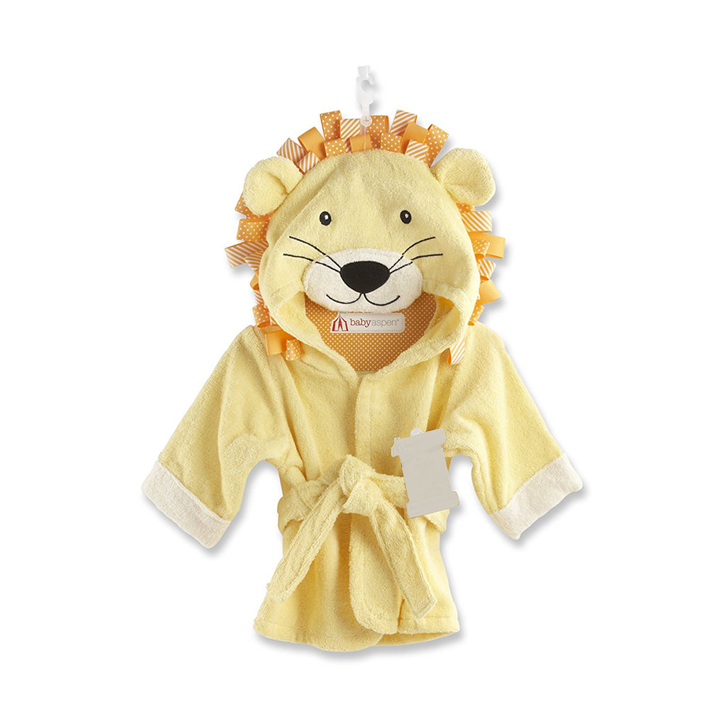 Promotion cute yellow tiger super soft push baby banket with head