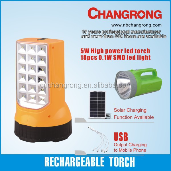 Ningbo Changrong New Flashlight Big Power Led Torch With Battery ...