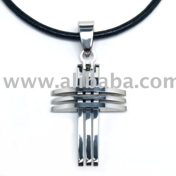 316L Stainless Steel Trinity Cross Pendant