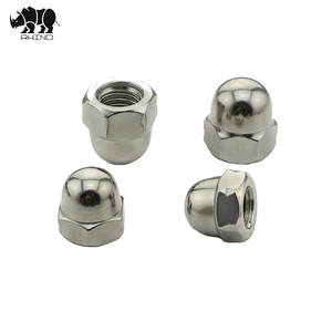 China fasteners DIN1587 good quality carbon steel hex cap nut stainless steel