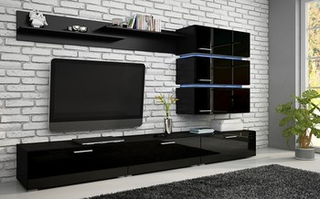 High Gloss Tv Wall Unit Tv Cabinet Tv Stand Leds Smart Furniture