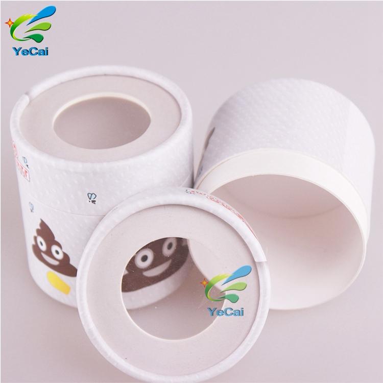 Diseño libre de grado de alimentos vela biodegradable cartón de papel kraft personalizado tubo redondo embalaje personalizado