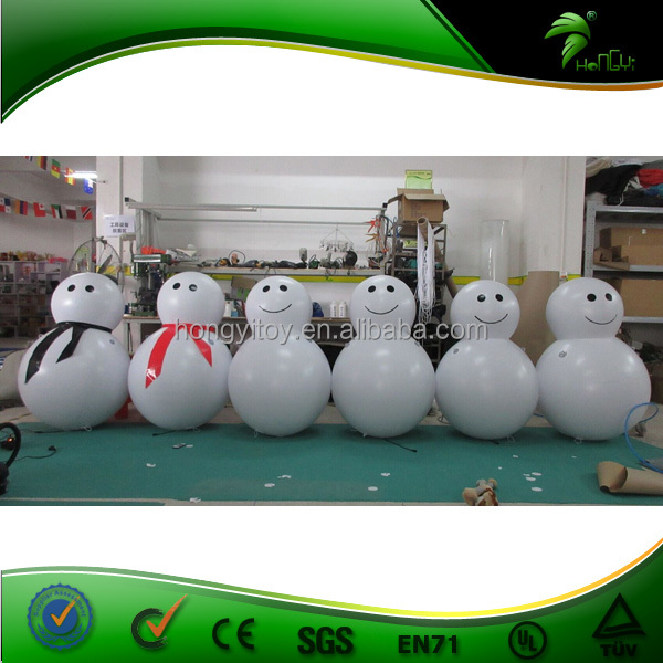 Advertising Inflatable Air Blown Products / Super Quality Inflatable Christmas Snowman With Led Lighting For Decoration