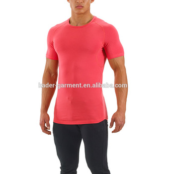 high quality cotton elastane fabric pro-fit t shirt slim fit gym wear fitness t shirts