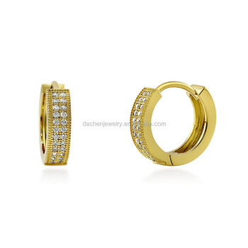 Golden Or White Gold 925 Silver Stud Earrings For Men And Boys Saudi Design
