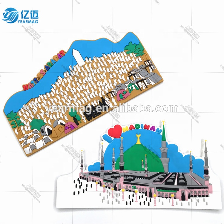 Cheap Price Custom Customer's Design 3D Soft PVC Rubber Silicone Fridge Magnet For Tourist Souvenirs