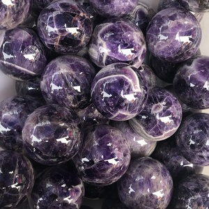 Wholesale Natural Dream Amethyst Quartz Stone Balls Healing Crystal Spheres For Home Ornaments