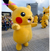 Cheap japan cartoon character pikachu mascot costume for sale