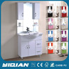 2016 hot selling modern design floor mounted White PVC bathroom vanity cabinet