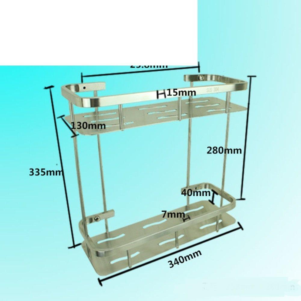 Stainless steel triangular basket/Double-pod/Racks/Bathroom corner rack/Bathroom corner brackets/Racks-C