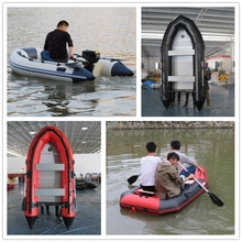 cheap China inflatable pontoon fishing boat with outboard motor rubber boat speed aluminum boat for sale with engine speeding