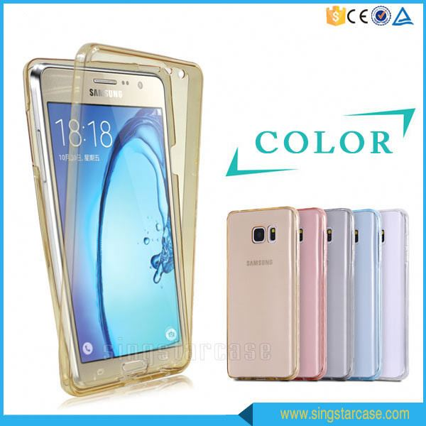 360 Degree Shockproof Hybrid Full Cover Clear TPU Protective Case For Samsung Galaxy Ace 4 Duos G313