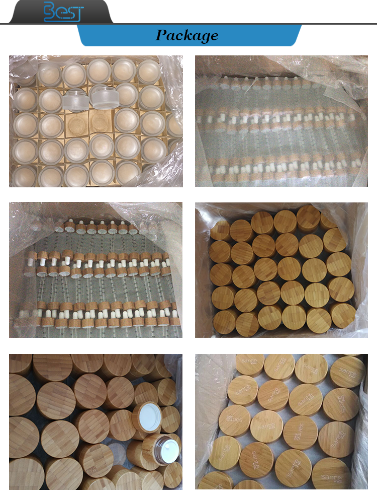 cosmetic packaging 5g 10g 15g lip balm containers wood 30g 50g 100g 120g 150g 200g 250g bamboo cosmetic jars with aluminum inner