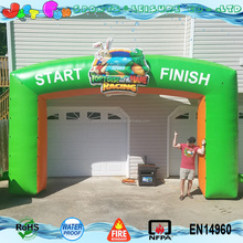 start finish line inflatable archway game advertising
