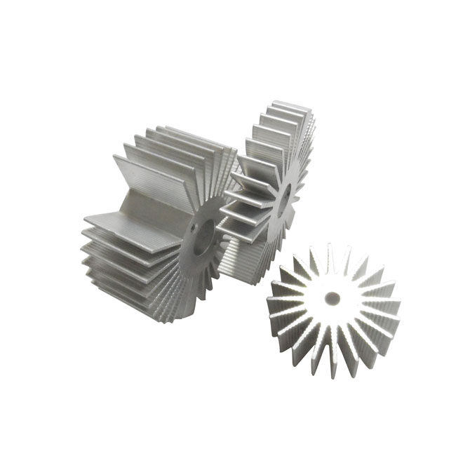 Customized high precision extruded water cooling round aluminum heatsink