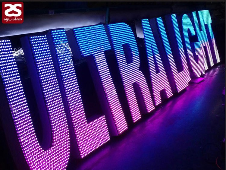 Acrylic Box Letters : High brightness advertising d led acrylic marquee channel
