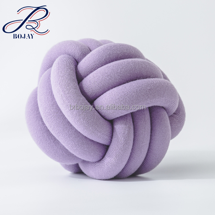 Decorative 3D Knot ball Knot Pillow retail and wholesale from China Supplier Ohhio Braid yarn for Knot pillow