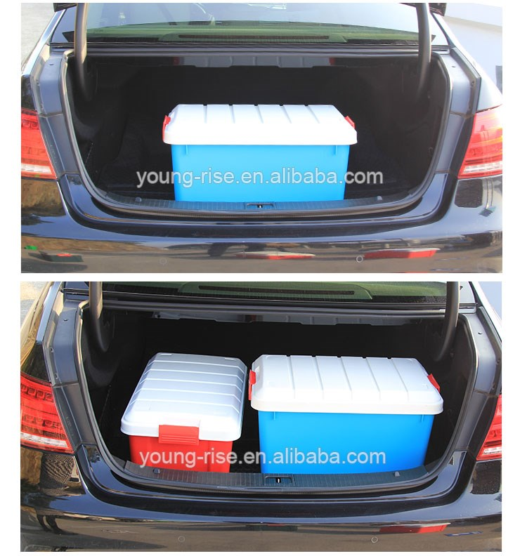 wholesale car storage organizer lockable plastic moving boxes food storage containers with handle - Lockable Storage Box