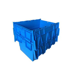 Hard Stackable wholesale clear Plastic Moving Boxes with Lid for sale
