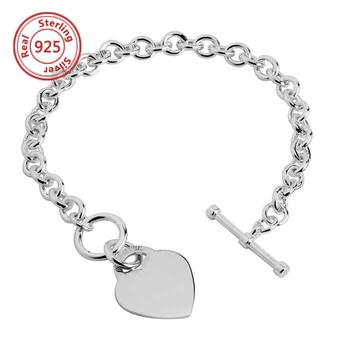 dacb86793d38f Logo Custom Bracelet Tags Personalised Engraving Heart Id Bracelet Male  Bracelet - Buy Male Bracelet,Sterling Silver Male Bracelet,925 Silver Male  ...