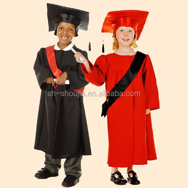 graduation gown child, black and red children graduation gown ...