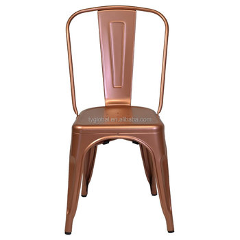 Incroyable Metal French Bistro Chairs Industrial Single Gold Metal Cafe Chairs TY BS240